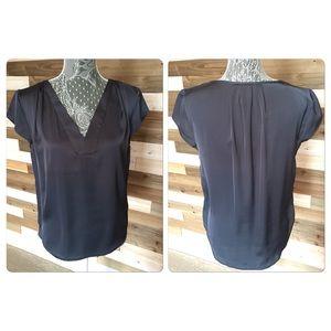Grey v-neck blouse